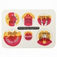 Palle di Natale - Boules de Noël - 5ème édition, Planche 1 – six disques décoratifs imprimés sur carton recyclé