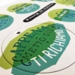 Palle di Natale - 5a edizione, Tavola 3 - sei dischi decorativi stampati su cartone riciclato