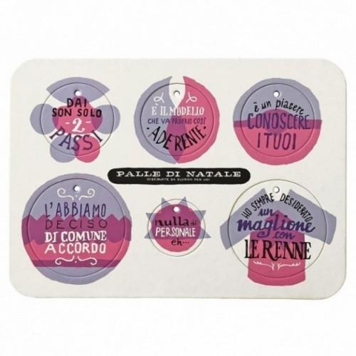 Palle di Natale - Boules de Noël - 5ème édition, Planche 4 – six disques décoratifs imprimés sur carton recyclé