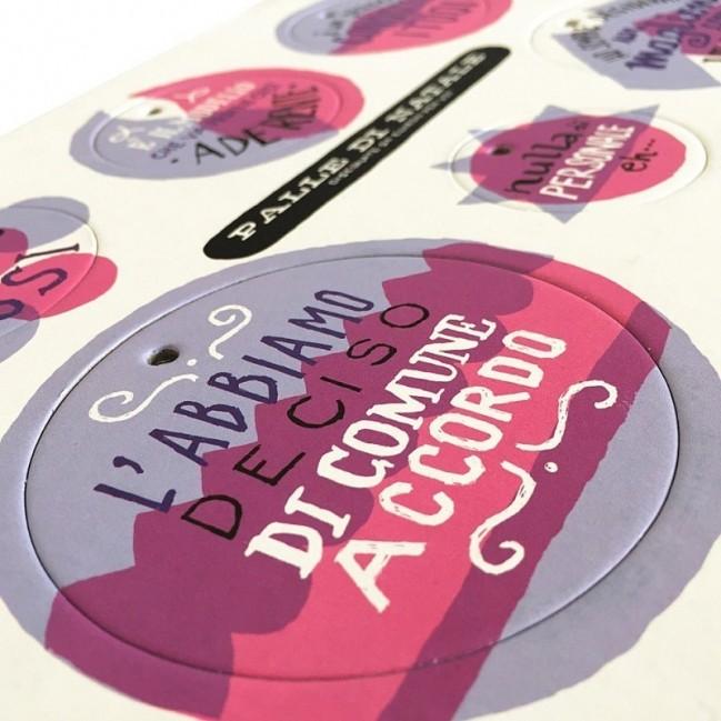 Palle di Natale - 5a edizione, Tavola 4 - sei dischi decorativi stampati su cartone riciclato