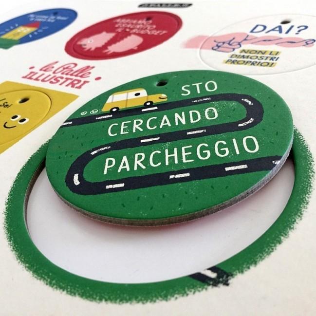 Palle ILLUSTRI - Planche illustrée par Mauro Gatti avec 6 disques décoratifs imprimés sur carton recyclé