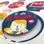 Palle ILLUSTRI - Tavola illustrata da Francesco Poroli con 6 dischi decorativi stampati su cartone riciclato