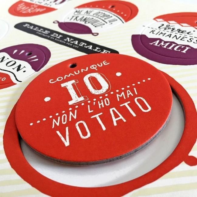 Palle di Natale - Boules de Noël - 4ème édition, Planche 2 – six disques décoratifs imprimés sur carton recyclé