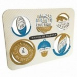 Palle di Natale - 4a edizione, Tavola 3 - sei dischi decorativi stampati su cartone riciclato