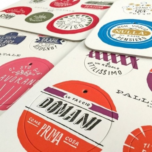 Palle di Natale - Boules de Noël-3ème édition, set complet de 4 planches avec 24 disques décoratifs imprimés sur carton recyclé