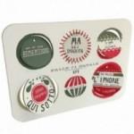 Palle di Natale - 2a edizione, Tavola 1 - sei dischi decorativi stampati su cartone riciclato