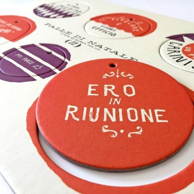 Palle di Natale - 2a edizione, Tavola 2 - sei dischi decorativi stampati su cartone riciclato