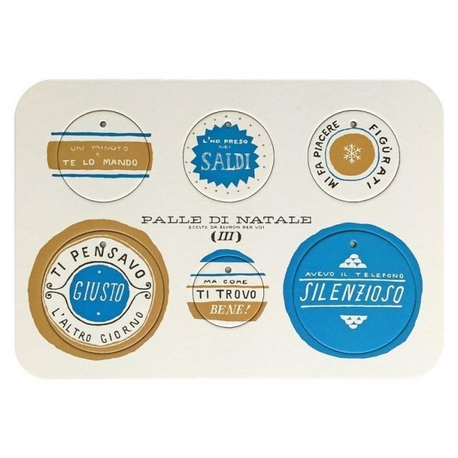 Palle di Natale - Boules de Noël - 2ème édition, Planche 3 – six disques décoratifs imprimés sur carton recyclé