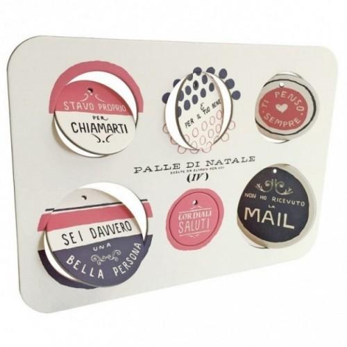 Palle di Natale - 2a edizione - Tavola 4 - sei dischi decorativi stampati su cartone riciclato