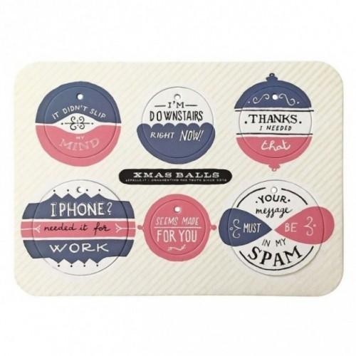 Xmas Balls - Tavola 4 - sei dischi decorativi stampati su cartone riciclato