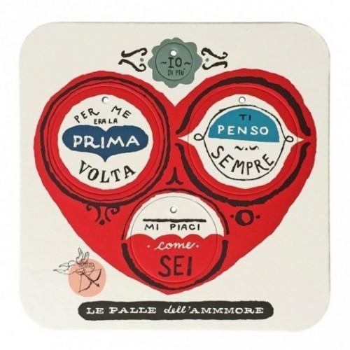 Palle dell'ammmore, set di 2 tavole per 8 dischi decorativi