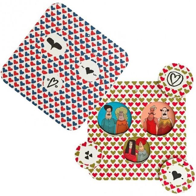 Palle dell'ammmore, (Boules de l'amour) Set de 2 planches avec 8 disques décoratifs