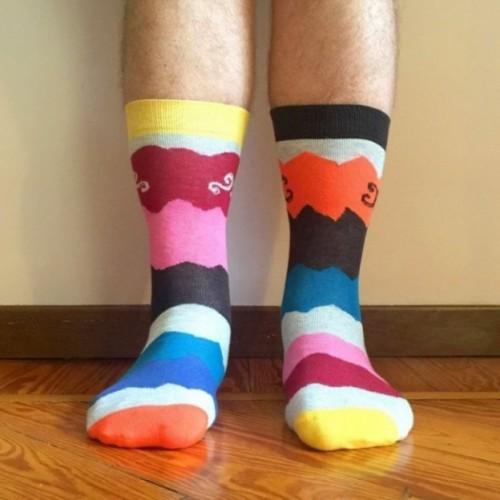"""Calza corta unisex - """"Weird stripes"""", in cotone pettinato alta qualità"""