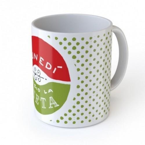 """Mug de l'amour """"Lunedì inizio la dieta"""", tasse en céramique"""