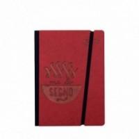 """Carnet """"Me lo segno"""" couverture rigide rouge en carton naturel, format de poche - SMALL 11x15 cm"""