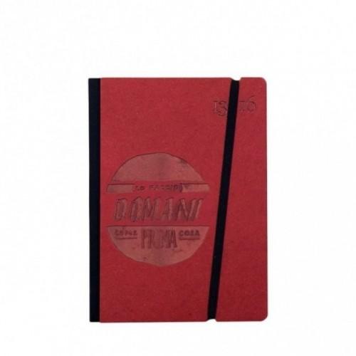 """Carnet """"Lo faccio domani come prima cosa"""" couverture rigide rouge en carton naturel, format de poche - SMALL 11x15 cm"""