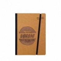 """Carnet """"Lo faccio domani come prima cosa"""" couverture rigide jaune ocre en carton naturel, format de poche - SMALL 11x15 cm"""