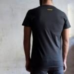 """T-shirt homme """"non è suonata la sveglia"""" 100% coton coloris gris anthracite"""