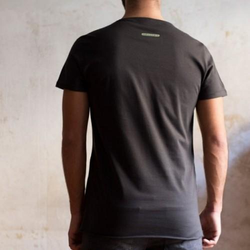 """T-shirt homme """"domani ti faccio il bonifico"""" 100% coton coloris blanc"""