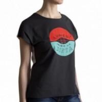 """T-shirt femme """"lunedì inizio la dieta"""" 100% coton coloris blanc et gris antracite"""