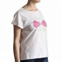 """T-shirt donna """"decidi tu, per me va bene tutto"""" 100% cotone color bianco"""