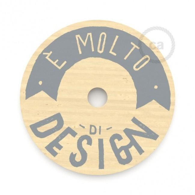 """Le Palle Volanti. Abat-jour circulaire en bois imprimé des deux cotés - """"E' molto di design"""" + pattern Drops"""