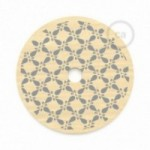 """Le Palle Volanti. Abat-jour circulaire en bois imprimé des deux cotés -""""It's not old, it's vintage"""" + pattern Drops"""
