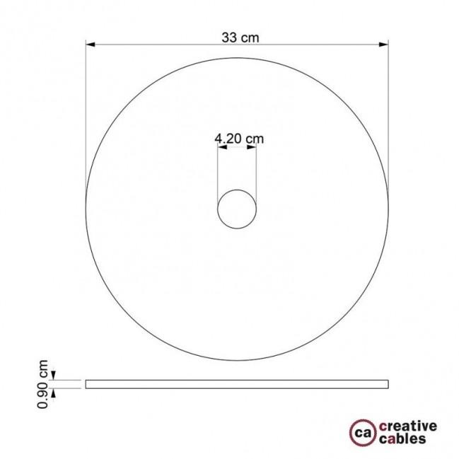 Le Palle Volanti. Paralume disco in legno con stampa su due facciate - pattern Drops + pattern Trippy