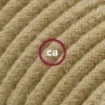 """Suspension complète """"Le Palle Volanti"""" motif """"E' molto di design"""" + pattern Drops et câble textile RN06 en jute"""