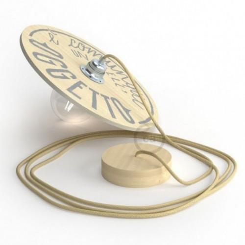 """Suspension complète """"Le Palle Volanti"""" motif """"E' comunque un bell'oggetto"""" + pattern Trippy et câble textile RN06 en jute"""