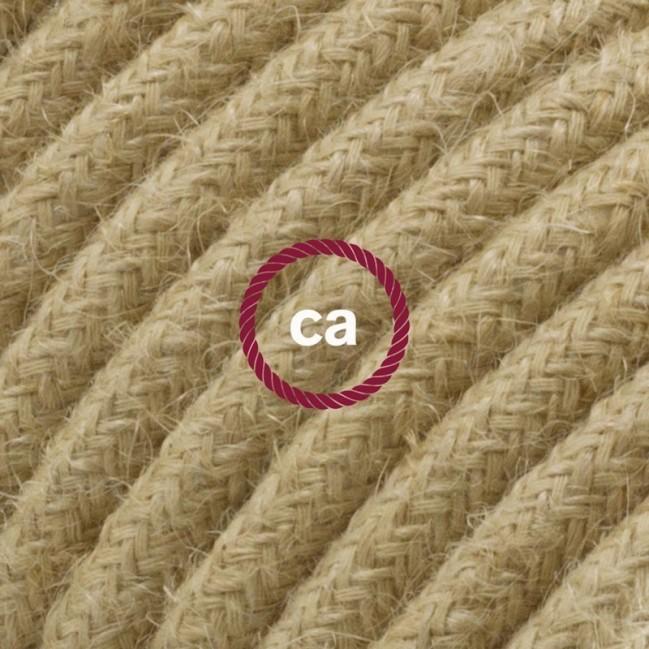 """Suspension complète """"Le Palle Volanti"""" motif pattern Stripes + pattern Dots et câble textile RN06 en jute"""