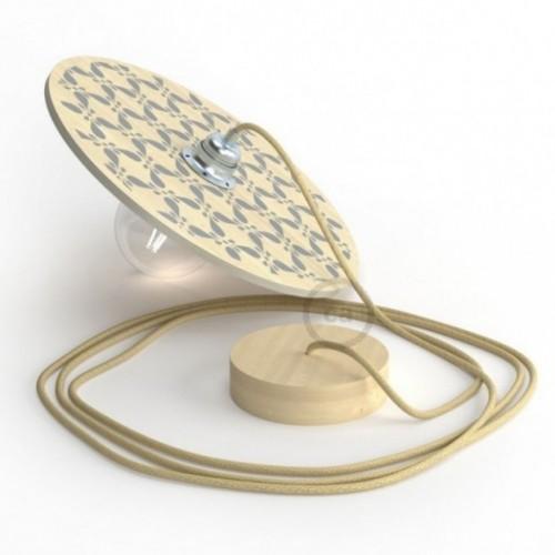 """Pendel completo """"Le Palle Volanti"""" disegno pattern Drops + pattern Trippy e cavo tessile RN06 Juta"""
