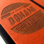 """Carnet """"Lo faccio domani come prima cosa"""" couverture rigide orange en carton naturel, format de poche - SMALL 11x15 cm"""