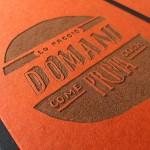 """Carnet """"Lo faccio domani come prima cosa"""" couverture rigide orange en carton naturel, format LARGE 16x21,7 cm"""
