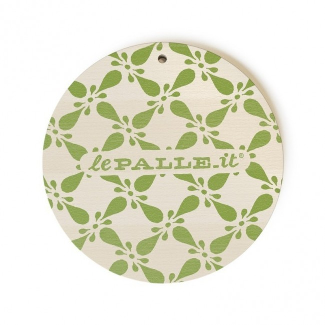 """MonoPipeau """"sono proprio qui sotto"""" disque décoratif en bois imprimé en couleurs"""