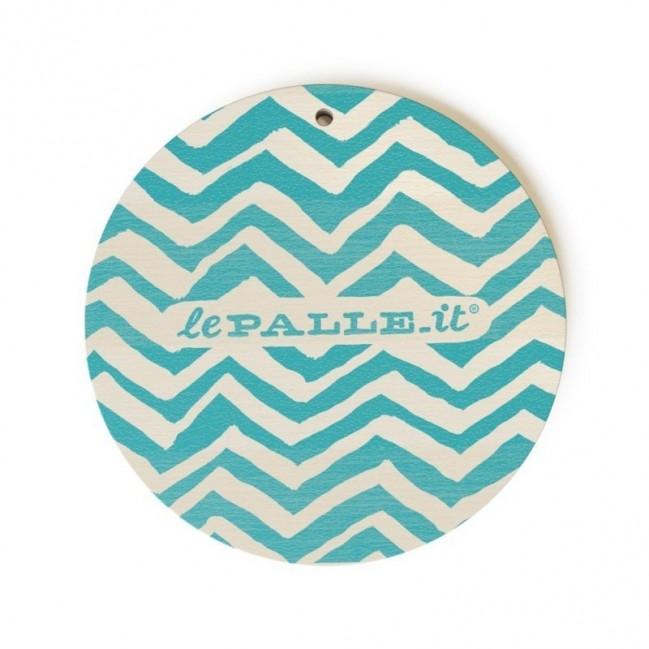 """MonoPipeau """"prossima volta offro io"""" disque décoratif en bois imprimé en couleurs"""