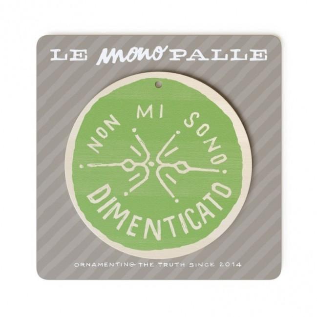 """MonoPipeau """"non mi sono dimenticato"""" disque décoratif en bois imprimé en couleurs"""