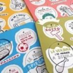 Le Palline - set completo di 4 tavole per 24 dischi decorativi da colorare, stampati su cartone riciclato