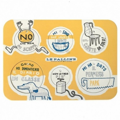 Les Petites Boules, Planche 1 - six disques décoratifs imprimés sur carton recyclé