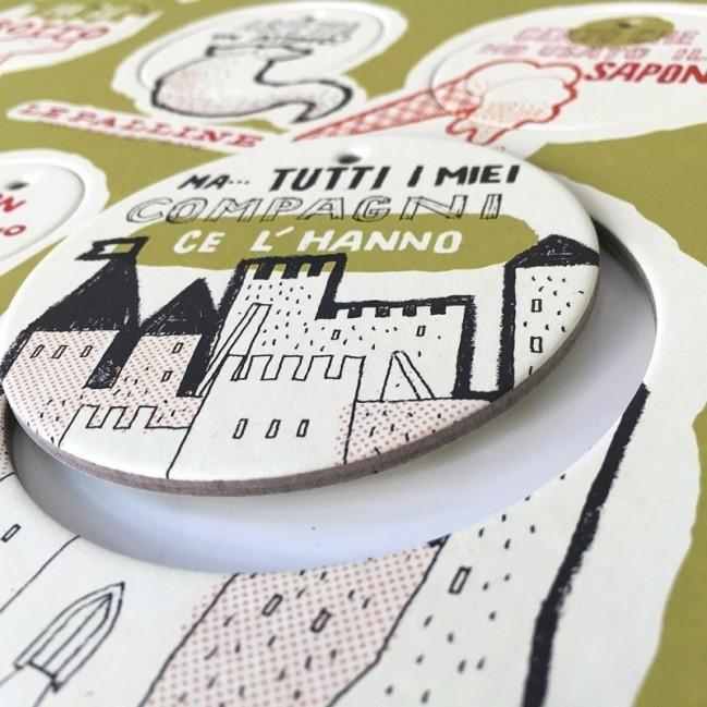 Les Petites Boules, Planche 2 - six disques décoratifs imprimés sur carton recyclé