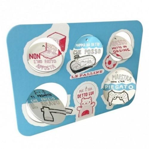Les Petites Boules, Planche 4 - six disques décoratifs imprimés sur carton recyclé
