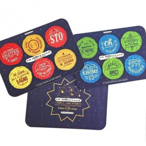 Le AstroPalle di Simon & The Stars - set de 2 planches avec 12 disques décoratifs imprimés sur carton recyclé