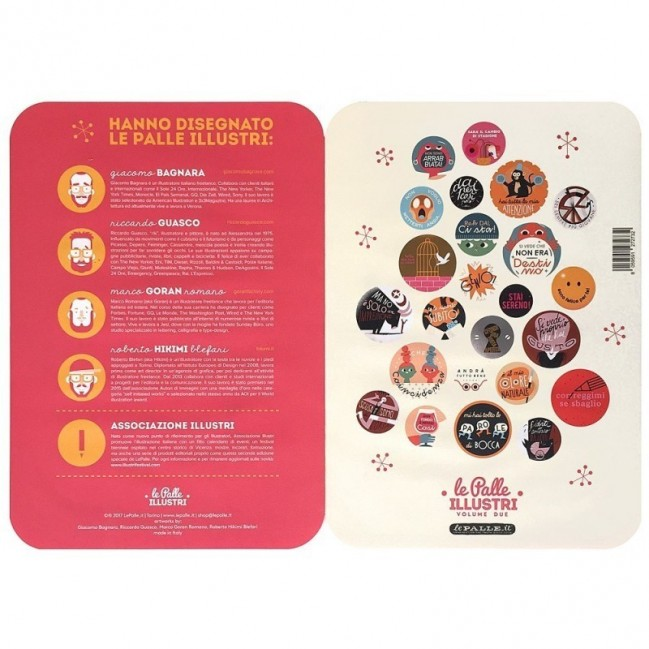 Palle ILLUSTRI 2ème edition - set complet de 4 planches avec 24 disques décoratifs imprimés sur carton recyclé