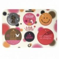 Palle ILLUSTRI 2ème edition - Planche illustrée par Giacomo Bagnara avec 6 disques décoratifs imprimés sur carton recyclé