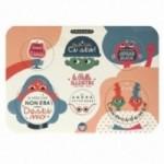 Palle ILLUSTRI 2ème edition - Planche illustrée par Hikimi avec 6 disques décoratifs imprimés sur carton recyclé
