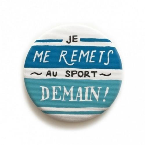 """Deco Pipeau Magnetiche: magnete """"Je me remets au sport demain! """""""