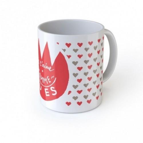 "Mug ""Je t'aime comme tu es"", tazza in ceramica"