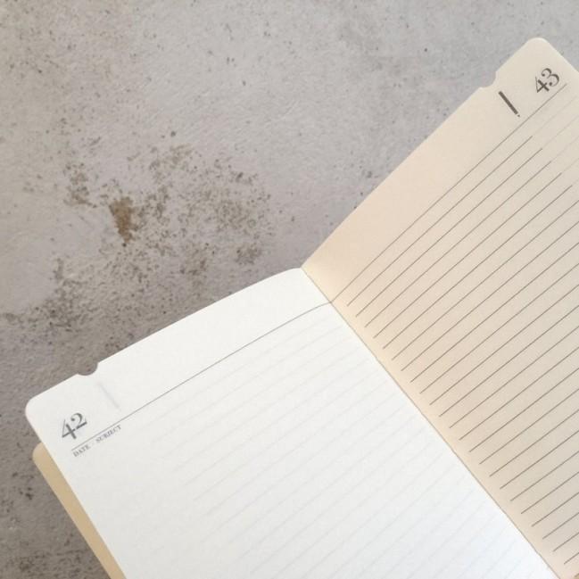 """Taccuino """"J'en prends bonne note"""" copertina rigida CAFFÈ in cartone naturale, formato LARGE 16x21,7 cm"""