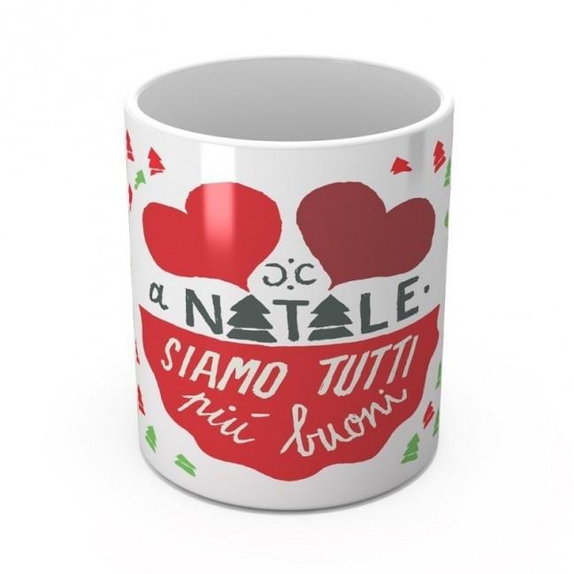"""Mug """"A Natale siamo tutti più buoni"""", tazza in ceramica"""