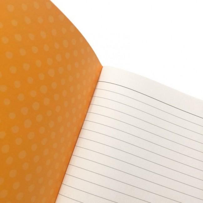 """Cahier A5 """"Ma come scrivi bene!"""", 48 pages ivoire, lignes uniquement à droite"""